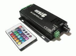 RGB (музыкальный,120Вт) контроллер с IR ДУ на 24 кнопки