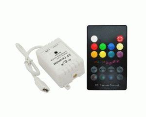 Купить RGB контроллер музыкальный RF радио (6А, 18 кнопок на пульте)