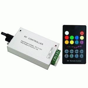 RGB контроллер музыкальный RF радио (12А, 18 кнопок на пульте)