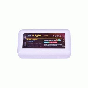 Купить RGB контроллер радио 4-Zone сенсорный White (touch controller,RF) без пульта