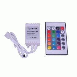 Купить RGB-контроллер IR инфракрасный(6А, 24 кнопки на пульте)