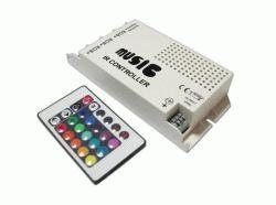 RGB (музыкальный,60Вт) контроллер с IR ДУ на 24 кнопки