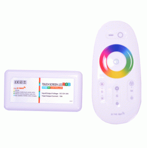 RGB-контроллер сенсорный White 2.4G (FULL touch controller, 18А) радио