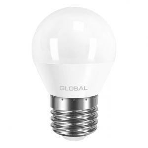 Светодиодная  лампа GLOBAL G45 F 5W 220V E27 AP (арт. 1-GBL-141)
