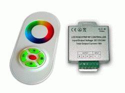 Купить RGB-контроллер сенсорный White (touch controller, 18А) радио
