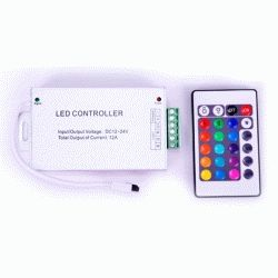 RGB-контроллер Металлический IR инфракрасный (12А, 24 кнопок на пульте)