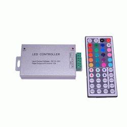 RGB-контроллер Металлический IR инфракрасный (12А, 44 кнопки на пульте)
