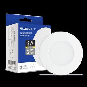 Панель (мини) GLOBAL LED SPN 3W (1-SPN-001)