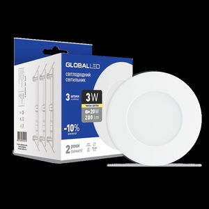 Панель (мини) GLOBAL LED SPN 3W (3шт. в уп) (3-SPN-001-C)