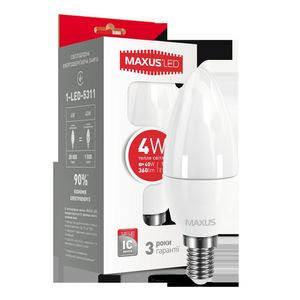 LED лампа C37 4W 220V E14 (арт. 1-LED-5311)
