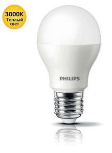 Лампа светодиодная Philips LEDBulb E27 4-40W 3000K 230V A55 (PF)