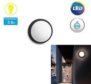 Светильник уличный настенный Philips myGarden Eagle LED 1х3.5W Black
