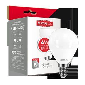 LED лампа MAXUS G45 F 4W яркий свет 220V E14 (1-LED-5412)