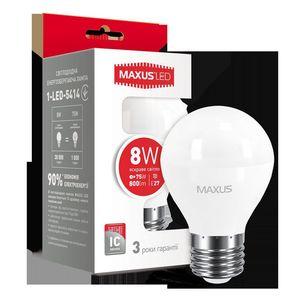 LED лампа MAXUS G45 F 8W 4100K 220V E27 (1-LED-5414)