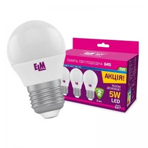 Комплект ламп светодиодных ШАР PA10L 5W E27 4000K (арт.18-0100)