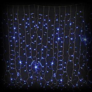 Гирлянда внешняя DELUX Curtain 1520LED 2x7м. синяя, белый провод
