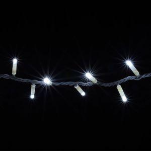 Гирлянда внешняя DELUX String 200LED 20м. белая, белый провод