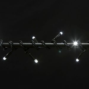 Гирлянда внутренняя DELUX String С 100LED 5м. белая, черный провод