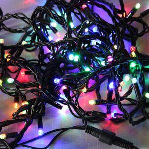 Гирлянда внутренняя DELUX String С 100LED 5м. разноцветная, черный провод