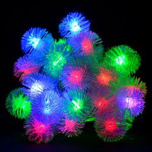 """Гирлянда светодиодная VENOM """"Ежики"""" 30LED RGB, белый провод..."""