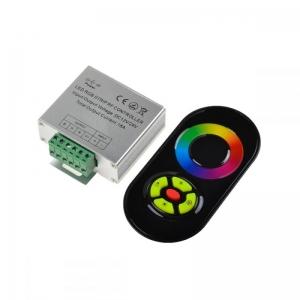 Купить RGB-контроллер радио 18A (сенсорный пульт) Black