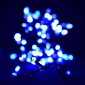 """Гирлянда """"Проводная"""" свеча 200LED, черный шнур (арт.LS-200B-2) Синий"""