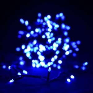 """Гирлянда """"Проводная"""" свеча 500Led, черный шнур Синий (арт.LS-500W-2)"""